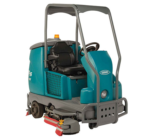 T16 Battery Ride-On Floor Scrubber