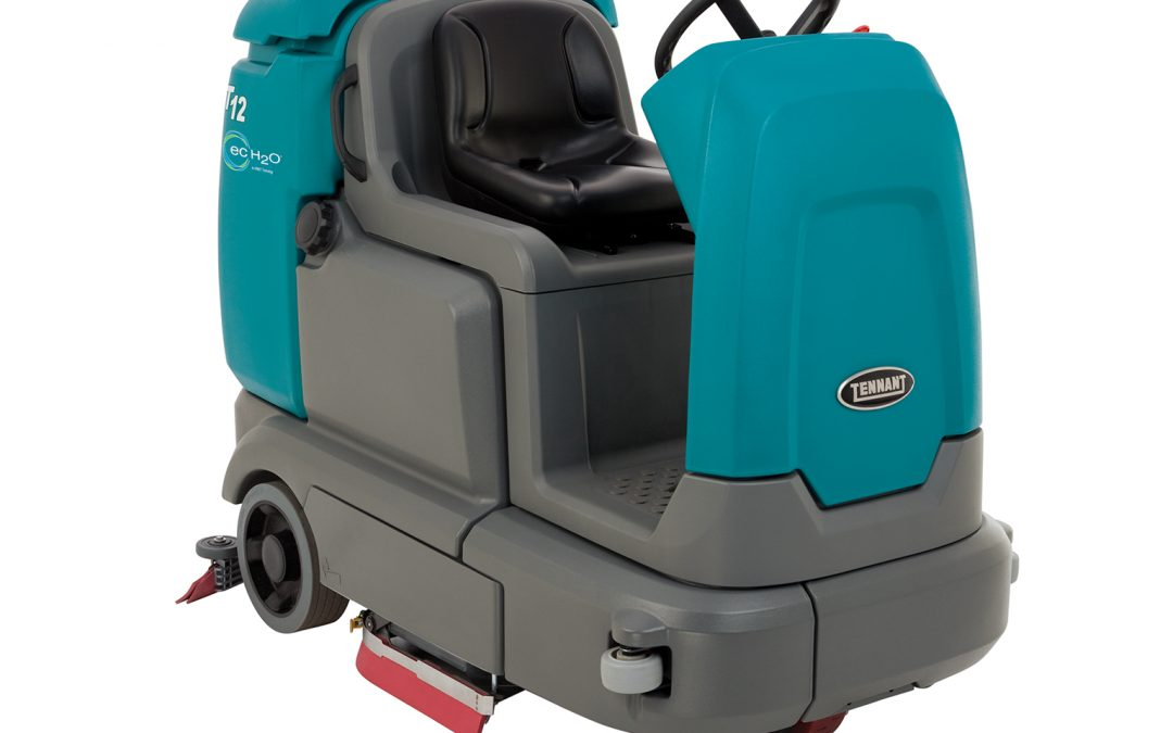 T12 Compact Battery Ride-On Floor Scrubber